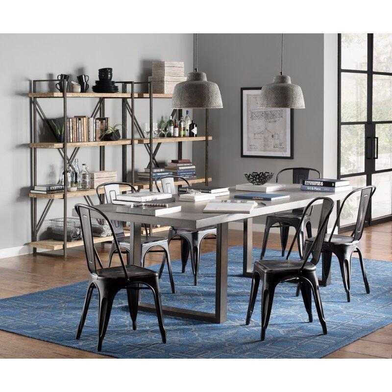 Trent Austin Design Carnarvon Concrete Dining Table Reviews Wayfair - Concrete dining table and chairs