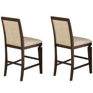 Evan Counter Height Upholstered Dining Chair (Set of 2) by Alcott Hill