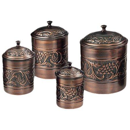 Superb Heritage 4 Piece Kitchen Canister Set