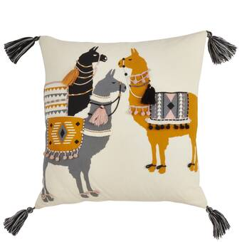 Ebern Designs Samora Couch Scarf Llama Throw Pillow Wayfair