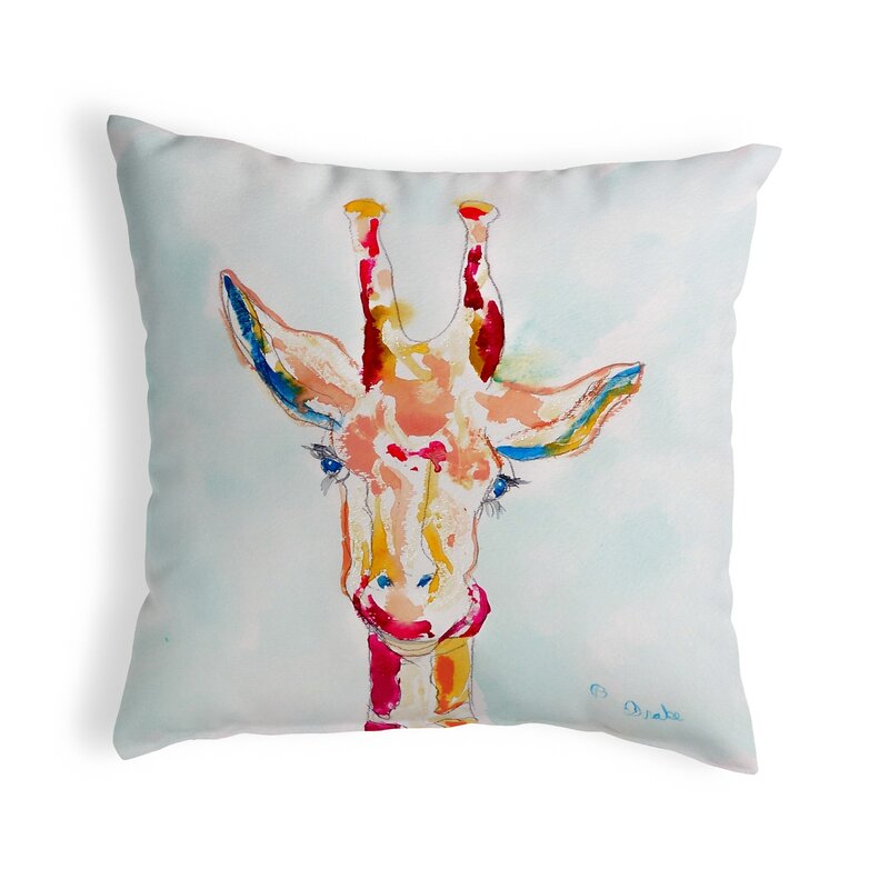 World Menagerie Lansdale Giraffe Indoor Outdoor Throw Pillow Cover Reviews Wayfair