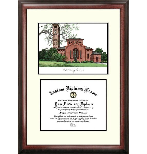 Campus Images Ncaa Hampton University Pirates Scholar Lithograph Diploma Frame Reviews Wayfair