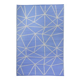 Best Price Premier Home Hand-Woven Blue/White Indoor/Outdoor Area Rug By Fox Hill Trading