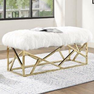 Keitt Upholstered Bench by Everly Quinn