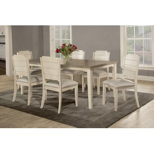 Kinsey 7 Piece Dining Set Rosecliff Heights