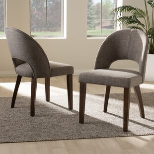 Cropper Mid-Century Upholstered Dining Chair (Set of 2) George Oliver