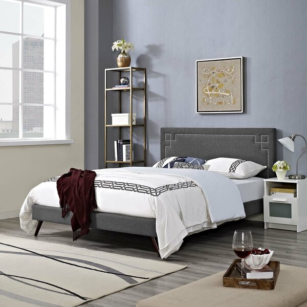 Wrought Studio Twerton Upholstered Platform Bed Reviews Wayfair