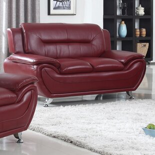 Gatto Modern Living Room Faux Loveseat