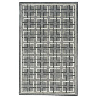 Wieland Framework Hand-Tufted Gray Area Rug by Breakwater Bay