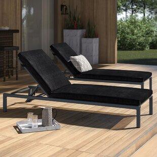 Mirando Sun Lounger Set with Cushions (Set of 2) by Mercury Row