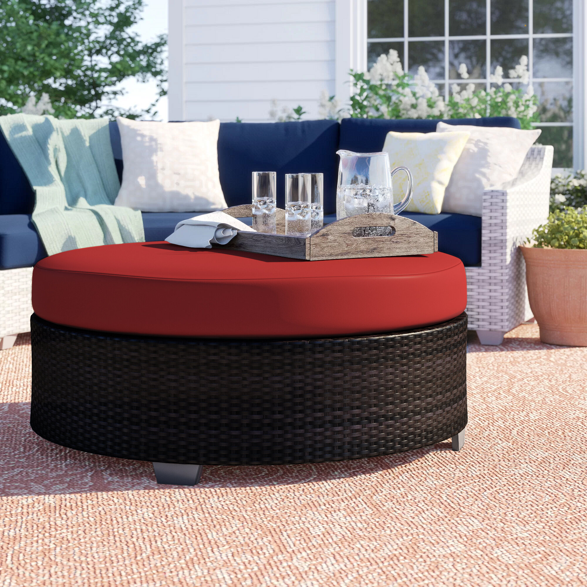 Commercial Use Wicker Rattan Patio Coffee Tables You Ll Love In 2021 Wayfair