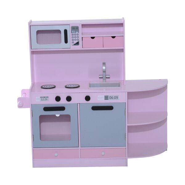 Qaba Deluxe Kids Kitchen Set & Reviews | Wayfair