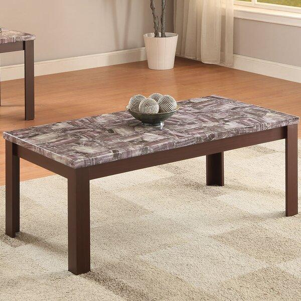Acme Furniture Arabia Faux Marble 2 Piece Coffee Table Set Reviews Wayfair