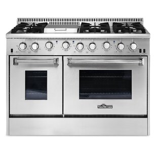 Professional 48 Free-Standing Natural Gas Range with Griddle by Thor Kitchen