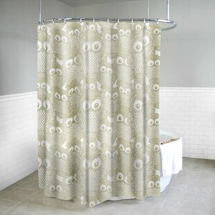 Amazonia Owl Party Fabric Single Shower Curtain