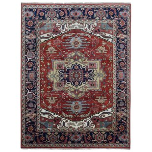 Reviews One-of-a-Kind Etchison Oriental Hand Woven Wool Red/Black Area Rug By Isabelline