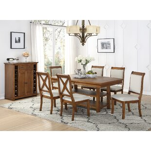 Courtland 7 Piece Dining Set Rosecliff Heights