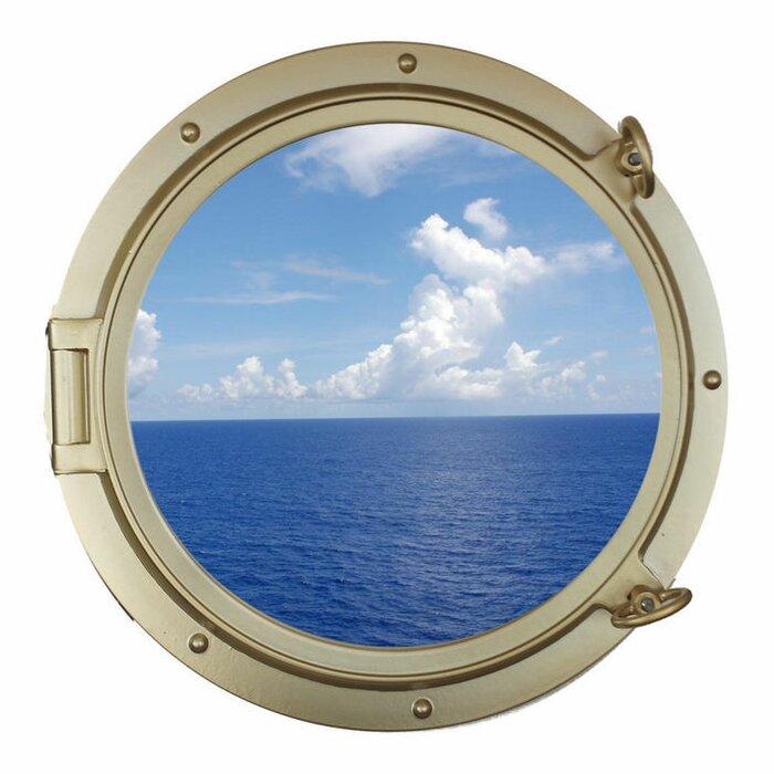 nautical decor mirror mirrors porthole s wall brass solid ship