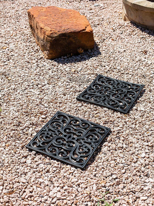 Birdrock Home Decorative Garden Rubber Stepping Stones Tile Wayfair