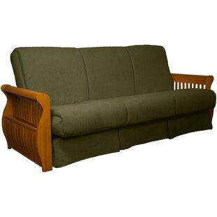 Epic Furnishings LLC Concord Suede Sit N Sleep Futon and Mattress