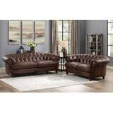 Basso 2 Piece Leather Living Room Set by Alcott Hill