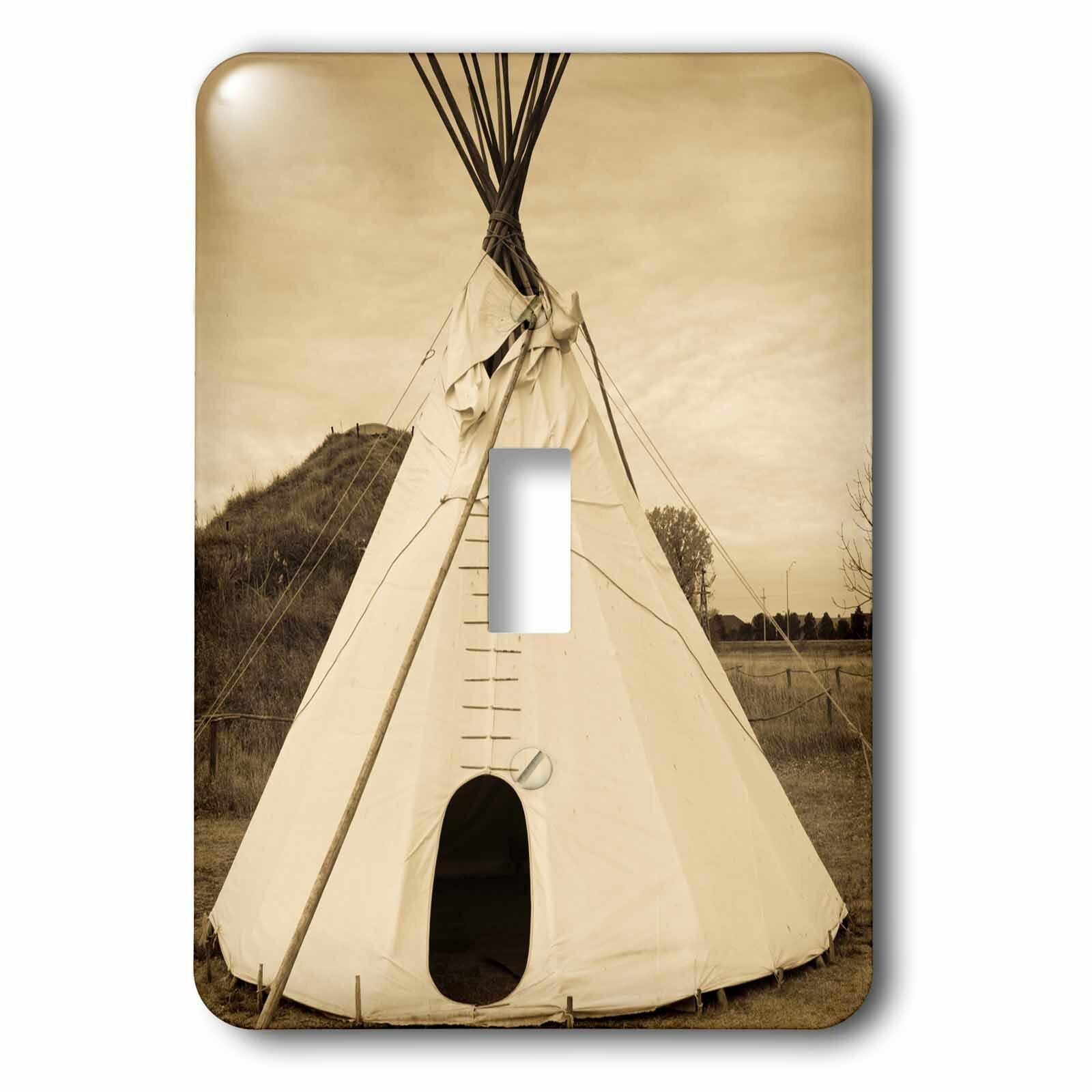 3drose Prairie Pioneer Teepee 1 Gang Toggle Light Switch Wall Plate Wayfair