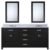 Minnetrista 72 Double Bathroom Vanity Set with Mirror by Andover Mills™