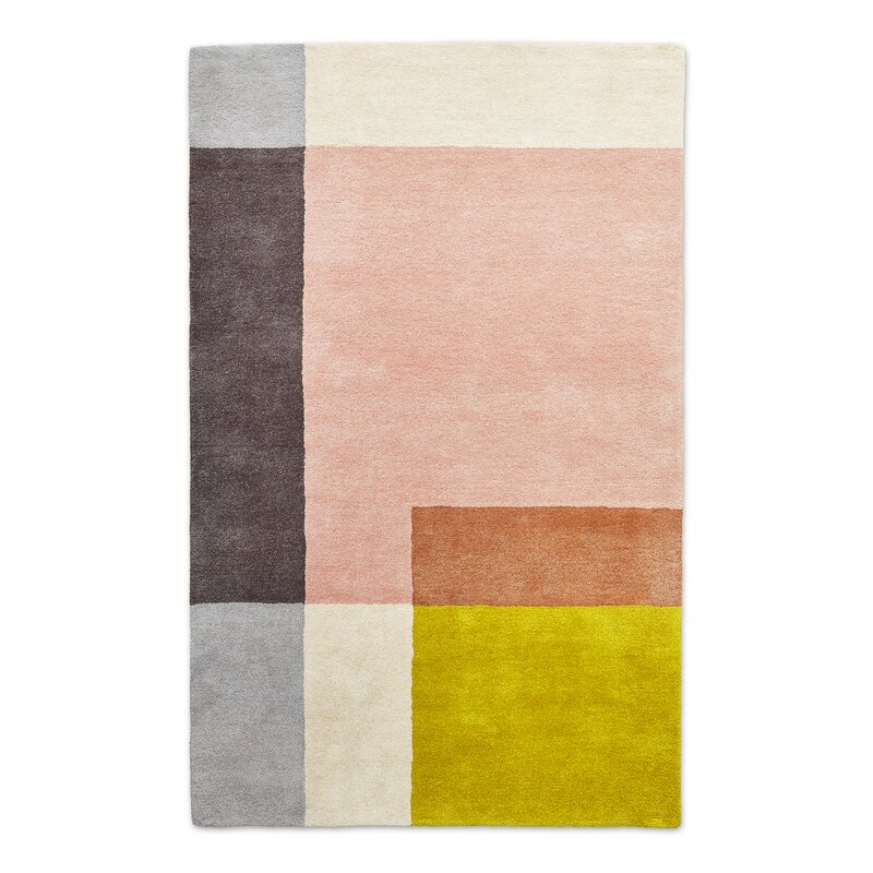 Element Rose Hand Tufted Wool Blush Area Rug Allmodern