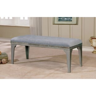 One Allium Way Clay Contemporary Wood/Metal Bench