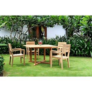 Darby Home Co Vang Teak 5 Piece Dining Set