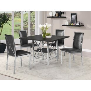 Orren Ellis Walburg 5 Piece Dining Set