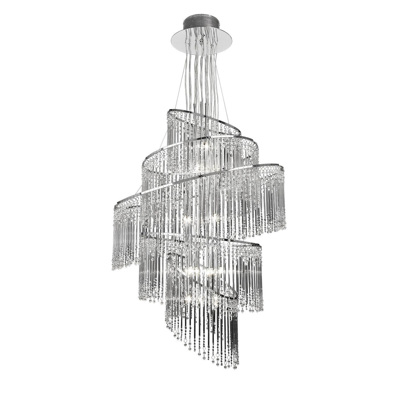 Endon lighting 24 light crystal chandelier reviews wayfair arubaitofo Gallery