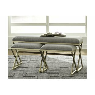 Read Reviews Reaon 3 Piece Wood Bench Set ByMercer41