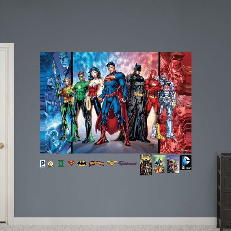 dc comics justice league justice league peel and stick wall decal