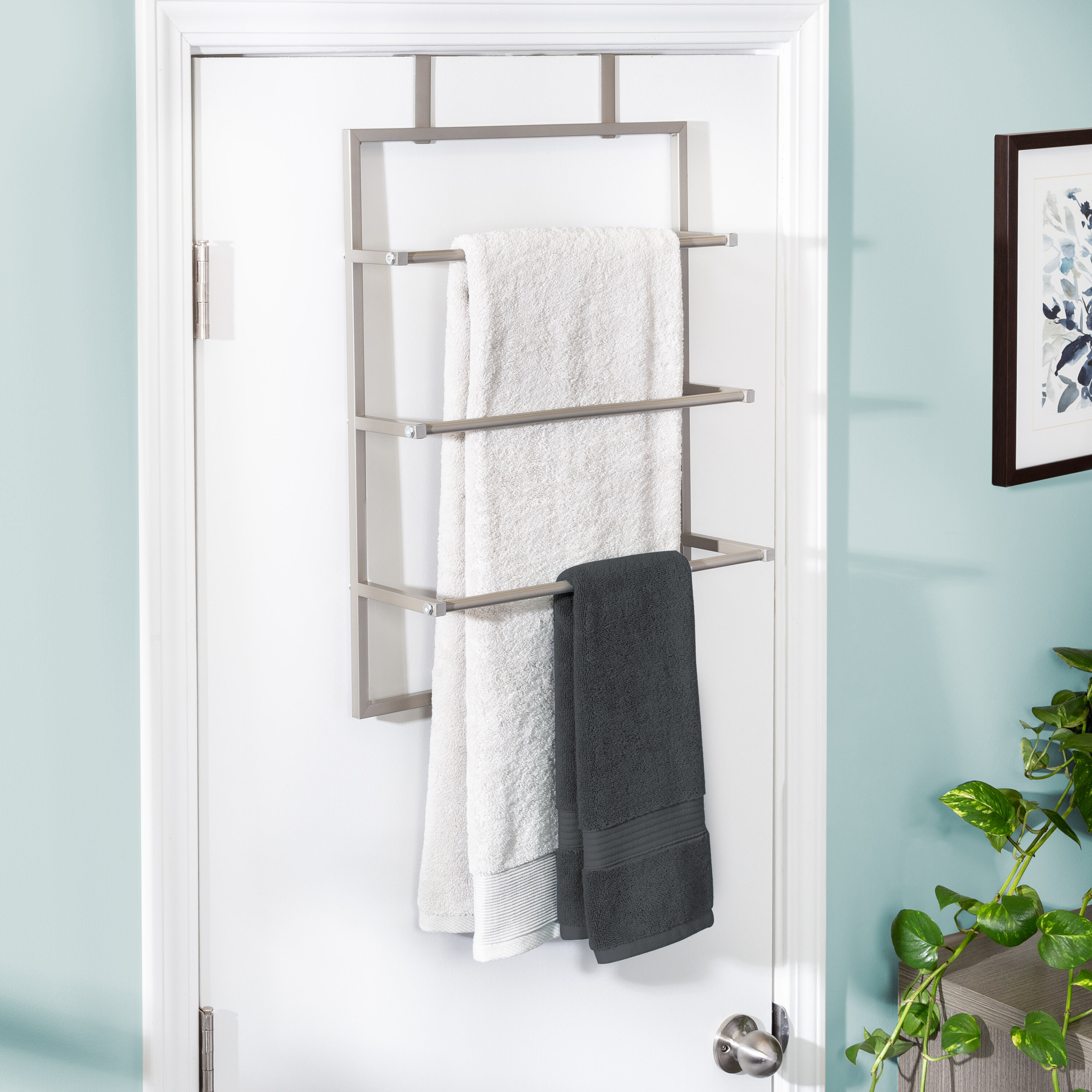 Honey Can Do Steel Bath Over The Door Towel Rack Reviews Wayfair