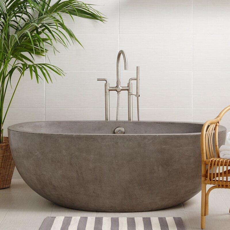 Native Trails Avalon Freestanding Soaking Bathtub | Wayfair on
