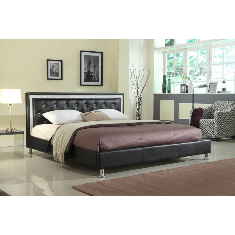 Everly Quinn Formaran Queen Upholstered Platform Bed Wayfair