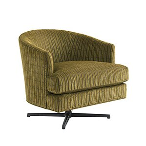 Zavala Graves Geometric Swivel Armchair by L..