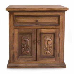 Parota Colonial Blossom Accent Cabinet by Novica