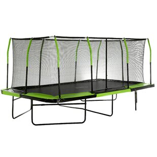 Low Price 17' Backyard: Above Ground Trampoline With Safety Enclosure