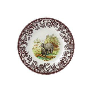 Woodland 8\  Bear Salad Plate  sc 1 st  Wayfair & Black Bear Plates | Wayfair