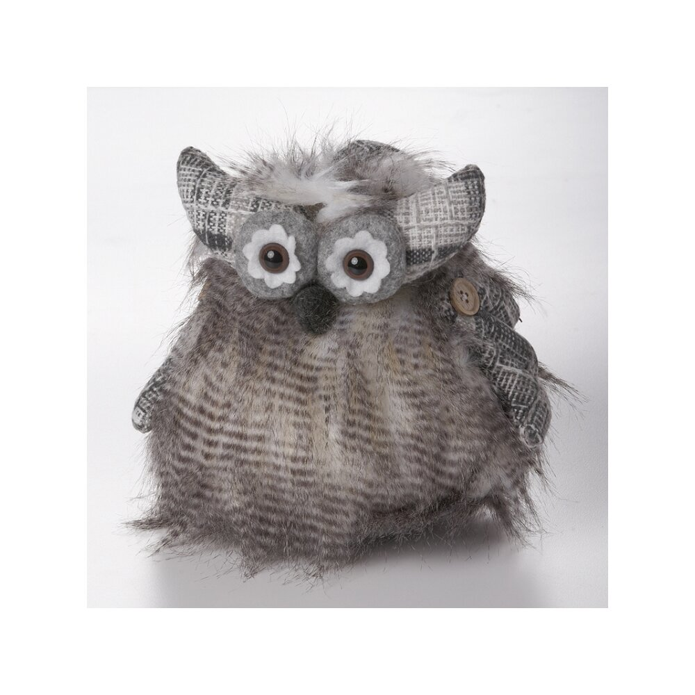 Mr Mjs Fur Owl Fabric Weighted Floor Stop Wayfair