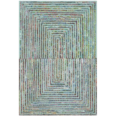 Bungalow Rose Hand-Tufted Wool Teal/Green Area Rug Rug Size: Rectangle 9' x 12'
