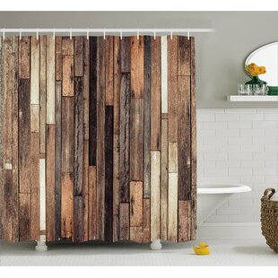 Wooden Old Floor Rustic Style Shower Curtain