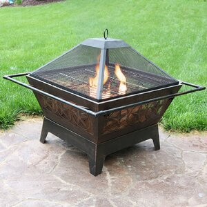 Furtado Steel Wood Burning Fire Pit
