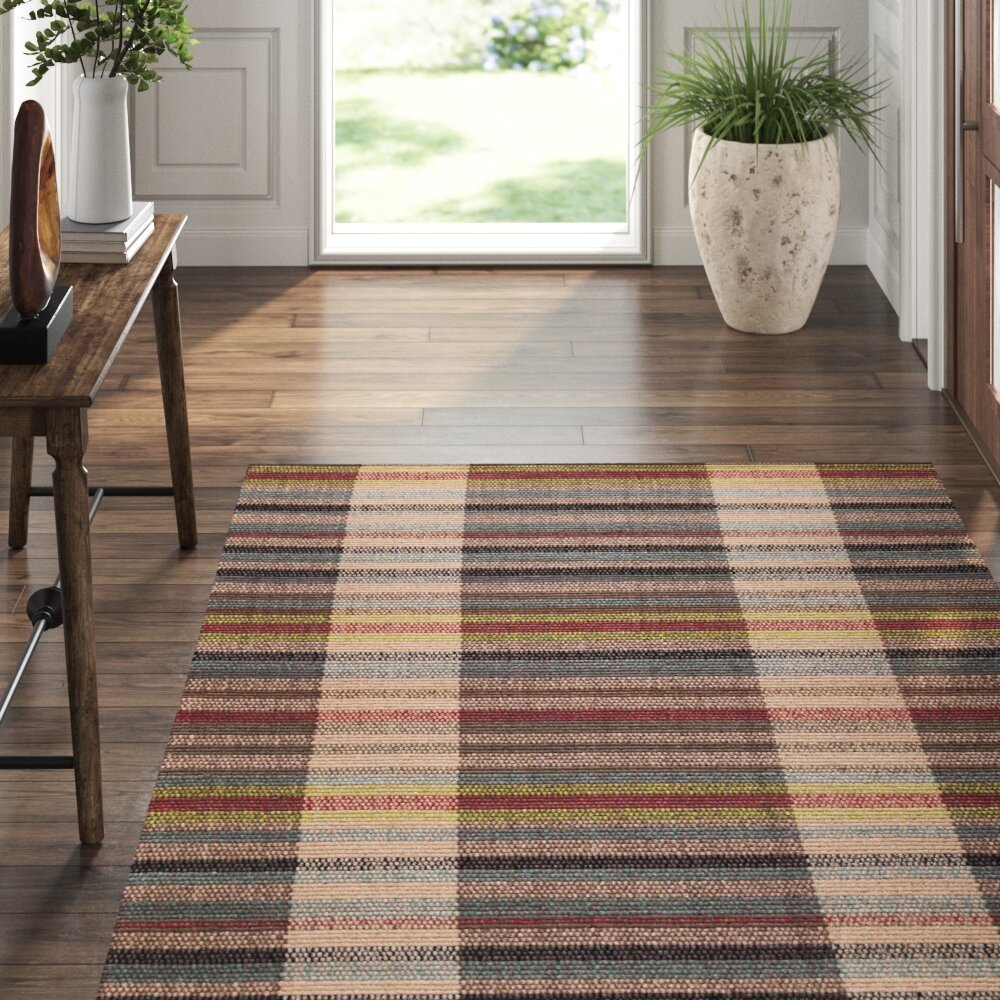 Dash And Albert Rugs Swedish Rag Striped Handmade Flatweave Brown Red Blue Beige Area Rug Reviews Perigold