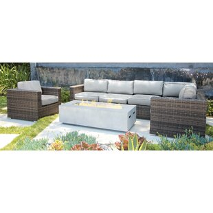 Bracknell 7 Piece Rattan Sectional Seating Group with Cushions