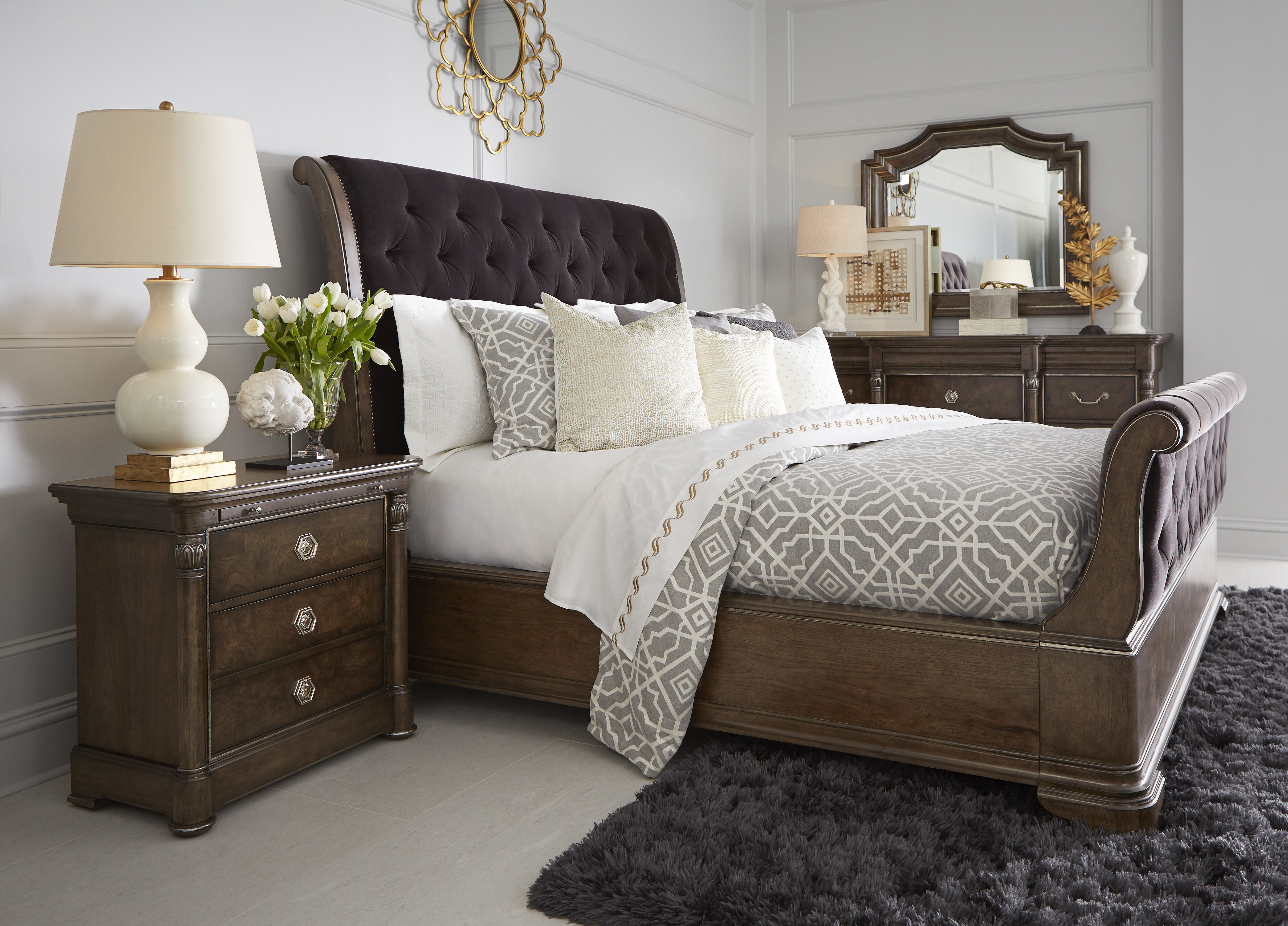 Fleur De Lis Living Gunnell Sleigh Solid Wood Configurable Bedroom Set Wayfair