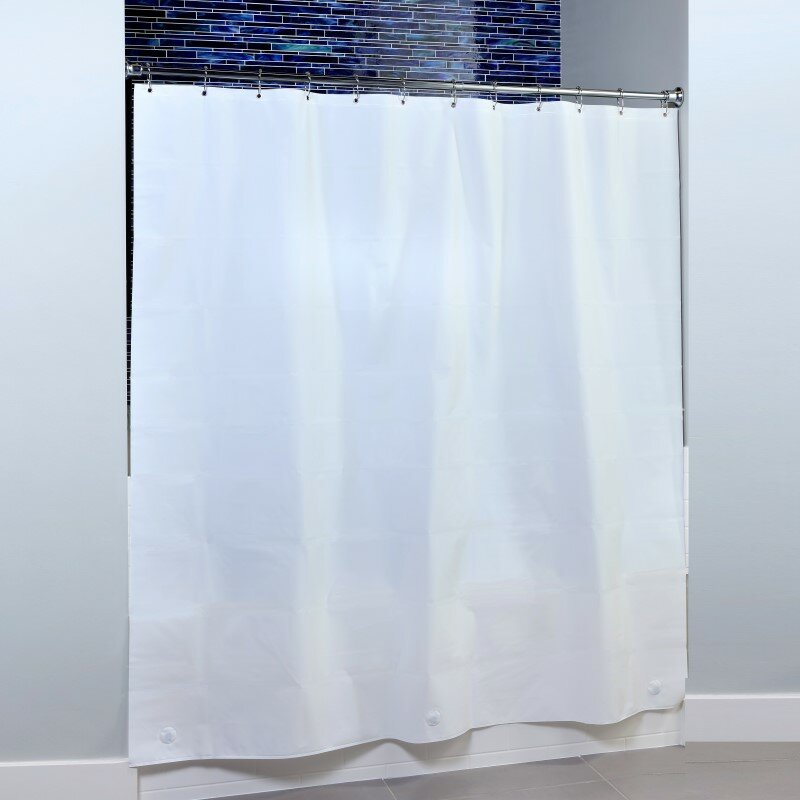 Slipxsolutions Microban Peva Single Shower Liner Reviews Wayfair