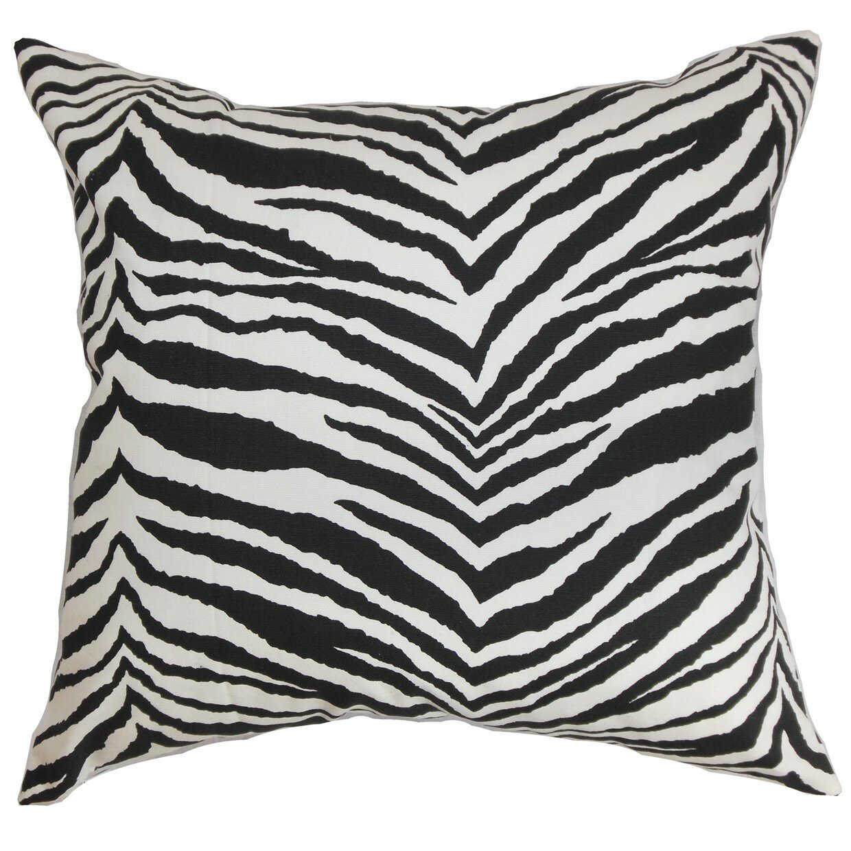 The Pillow Collection Cecania Zebra Print Cotton Throw Pillow Cover Wayfair